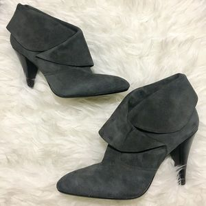 • Via Spiga Gray fold over booties size 9.5 •